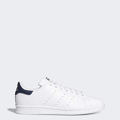 adidas Originals Women's Stan Smith Sneaker, Footwear White/Footwear White/Collegiate Navy, 8