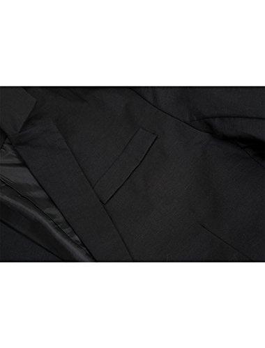 Fermeture Allegra Bouton Décontracté Seul Blazer Black Revers K Slim Fit Hommes Cranté UrwUBq0v