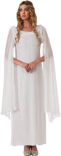 Rubie's Costume The Hobbit Galadriel Dress With Headpiece, White, Adult One Size (Lord Of The Rings Elf Costume)