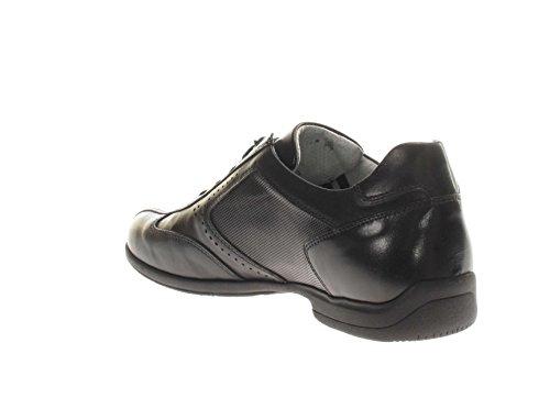 Nero Giardini P800140u Caracas Nero, Chaussures de Ville à Lacets pour Homme Noir
