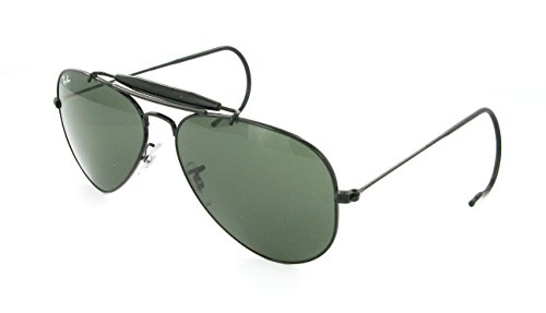 Black Ray-ban Outdoorsman Aviators RB 3030 L9500 58mm + SD Glasses + Cleaning - 3030 Rb