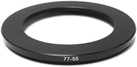 Pixco 77-55mm Step-Down Metal Adapter Ring 77mm Lens to 55mm Accessory