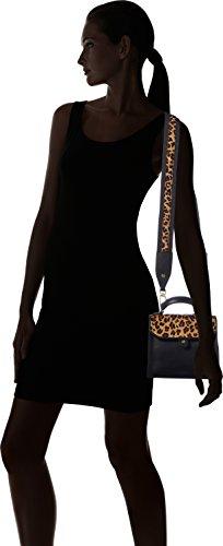 Liebeskind Berlin - Glendale Itemha, Bolsos bandolera Mujer, Schwarz (Oil Black), 6x23x19 cm (W x H D)
