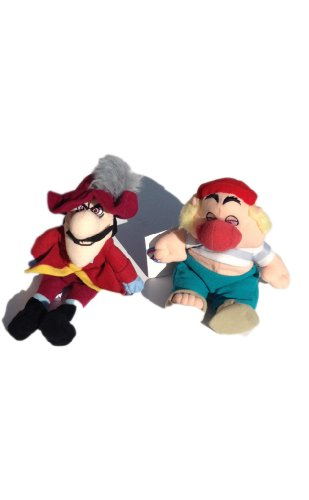 Mr. Smee and Captain Hook Bean Bag Plush Set