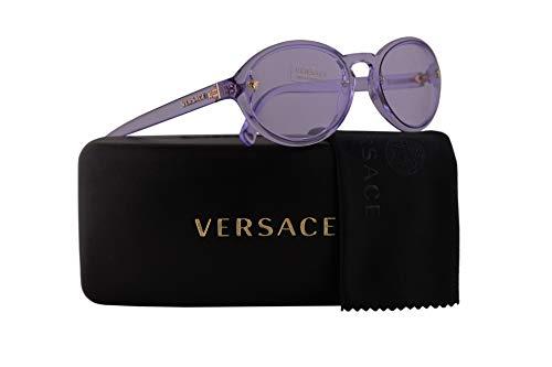 Versace VE4352 Sunglasses Transparent Lilac w/Light Violet Lens 54mm 52771A VE 4352