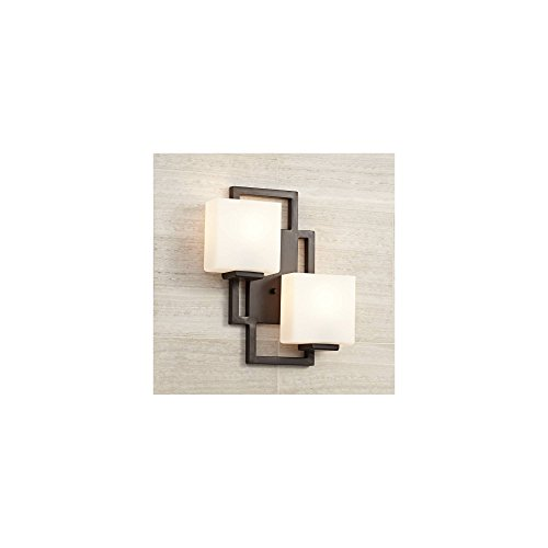 Lighting on The Square Modern Wall Light Bronze 15 1/2