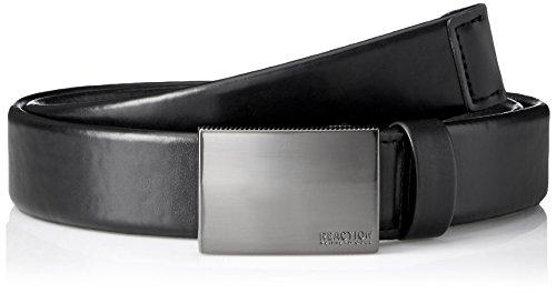 Kenneth Cole Reaction Black Belt (Kenneth Cole REACTION Men's Plaque Buckle Belt With Comfort Stretch, black,)