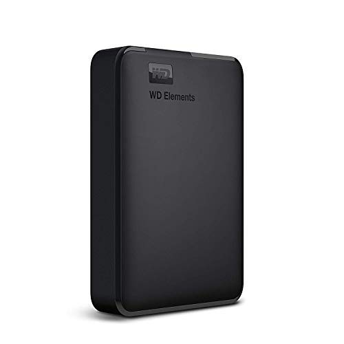 WD Elements – Disco duro externo portátil de 4 TB con USB 3.0, color negro