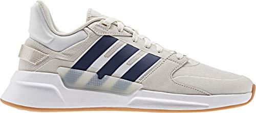 adidas Men's RUN90S Track Shoe, Cloud White/Dark Blue/raw White, 9.5 Standard US Width US
