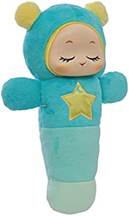 Playskool Glo Worm SmartSense Cry Sensor and Voice Recordable Soft Stuffed Soother Toy for Newborn, Baby, and