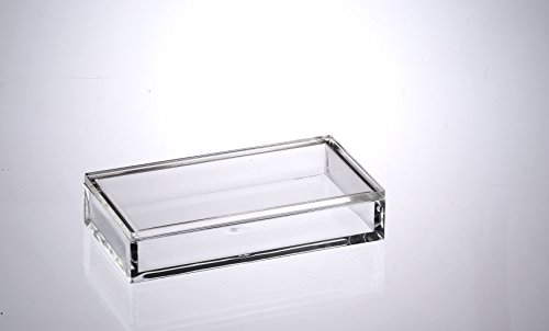 "Acrylic Lucite 8MM Thick Tray 9.25"" x 5"" Rectangle Guest Towel Holder"