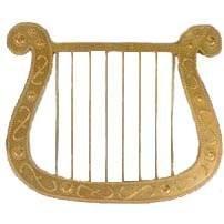 Harfe, gold, ca. 25 x 30 cm