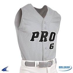 Champro Youth Pro Mesh Full Button Sleeveless Jersey