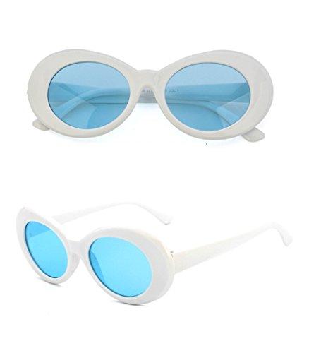 Chezi Plastic Bold Oval Frame Novelty Goggle Eye Round Sunglasses - Sunglasses For Weird Sale