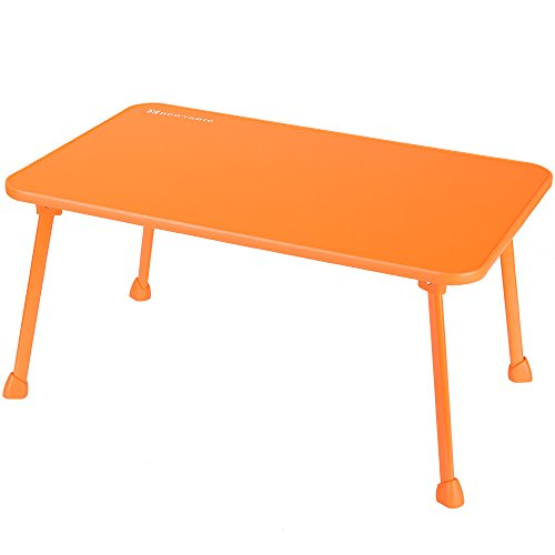 Large Bed Tray NNEWVANTE Laptop Desk Lap Desk Foldable Portable Standing Outdoor Camping Table, Breakfast Reading Tray Holder for Couch Floor Students Kids Young Color(Orange) (Small Plastic Horseshoes)
