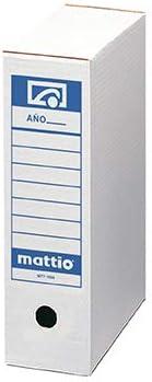Mattio - Caja de 50 unidades de archivo definitivo Folio: Amazon.es: Oficina y papelería