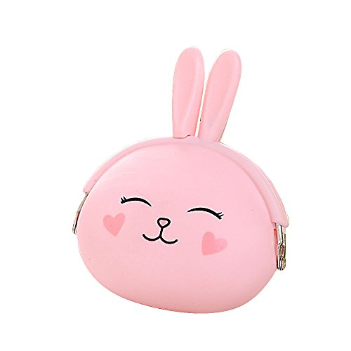 mk. park - Earphone Pouch Key Bags Women Coin Wallet Silicone Purse Rabbit - New Braunfels Outlet