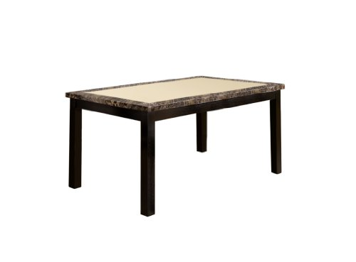 Furniture of America Taveren Faux Marble Dining Table, Black ()