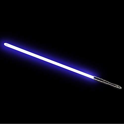 YDD LED Light Saber, Force FX Lightsaber with Sound and Light, Rechargeable Light Up Sword, Metal Hilt, Star Wars Toy for Man Kids (Black Hilt Blue Blade, Medium)