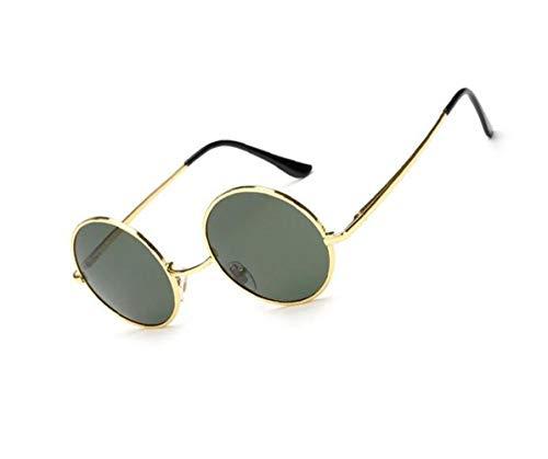 UV400 conduce del Marco Golden sol polarizadas de unisex redondo para la Guay de gafas viajar estilo protección Gafas clásico Huyizhi que Sq8ag8