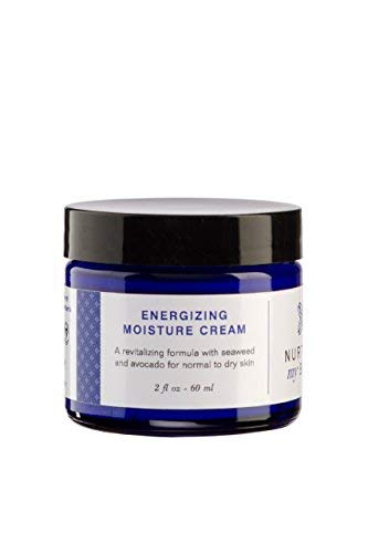 Nurture My Body All-Natural Energizing Moisturizing Facial Cream, Fragrance Free, 2 fl oz. - Certified Organic Ingredients