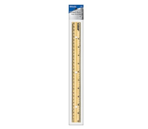 Bazic Products 321-288 BAZIC 12 in. - 30cm Wooden Ruler Case of 288