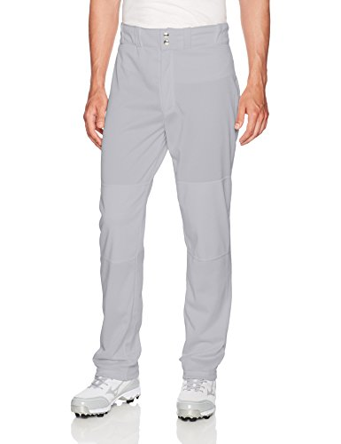 Wilson Men's Classic Relaxed Fit Baseball Pant, Grey, Small (Knit Warp Polyester Adult)
