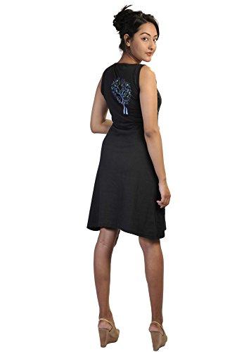 Damen ärmelloses Kleid mit Zweigen des Winters Baum PrintDesign ...