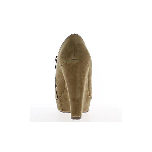Stiefel Maulwürfe Aspekt Wildleder vorne fach 12cm Keilabsatz