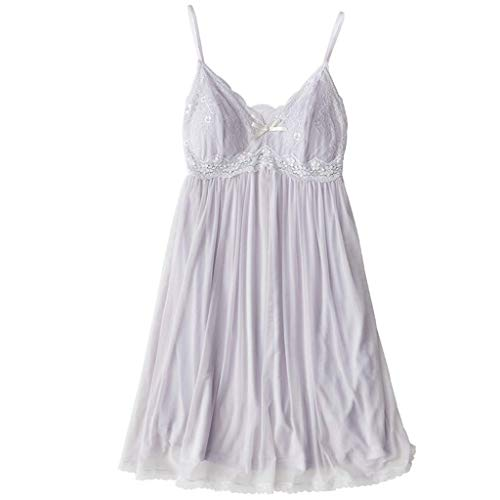 Cuello Back Palace color V Tamaño Camisón En Mujer Design Blanco Vestido Xs Lace Perspectiva De Zcx Correa Princesa Sense Pijamas Blanco Con 87wFZqB