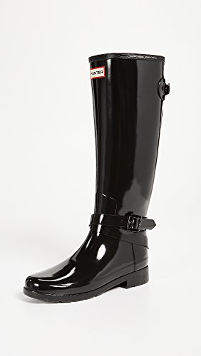 Tall Hunter Adjustable Back Ankle Gloss w Black Strap Refined Womens URqFrRI