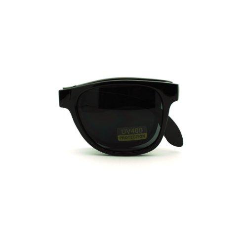 Folding Foldable Sunglasses Classic Wayfarers Unisex Fashion ()