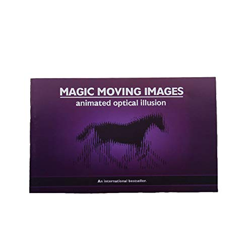 Naisidier Magic Book Moving Images Novelty Animated Optical Illusion Toy Moving Images Book for ()