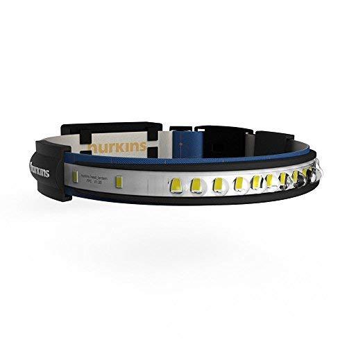 hurkins Orbit, 180˚ Wide Angle Rechargeable Headlamp (Navy, Orbit) by hurkins