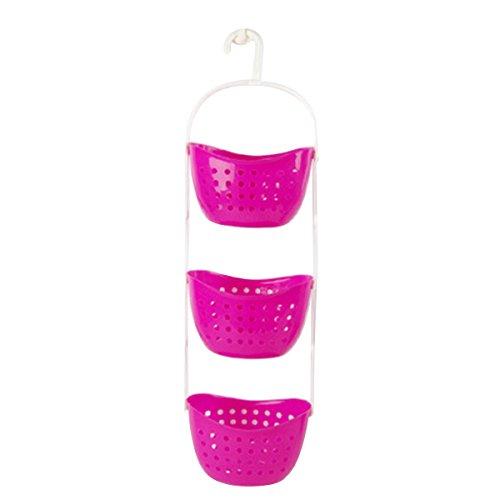 red 3 tier hanging basket - 4