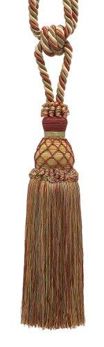 Tie Backs Cord (Elegant Wine, Gold, Green Curtain & Drapery Tassel Tieback / 10