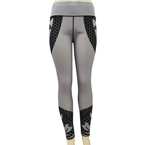 Elástica De Pantalones Huixin A345 Polainas Slim Casuales Impreso Deportivos Entrenamiento Estiramiento Las Mujeres Fit Alta Cintura Stretch 64UUqf