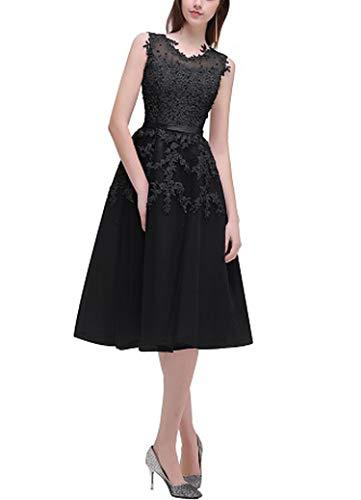 2000 Quinceanera Dress - Gray Short Bridesmaids Dresses Sky Blue Applique Beads Sheer Back Party Gown Dress,Black,8