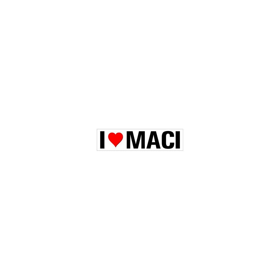 I Heart Love Maci   Window Bumper Sticker
