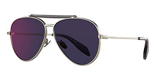 Alexander Mcqueen Mens - Alexander McQueen AM0057S Sunglasses 003 Ruthenium/Gold Mirror Lens 62 mm