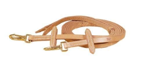 TORY LEATHER Single Ply Bit Stop Reins - Brass Snaps - Harness Leather - 5/8