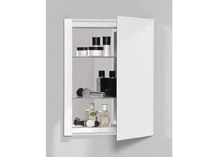 Robern CB RC1620D4FP1 R3 Series Plain Mirror Medicine Cabinet