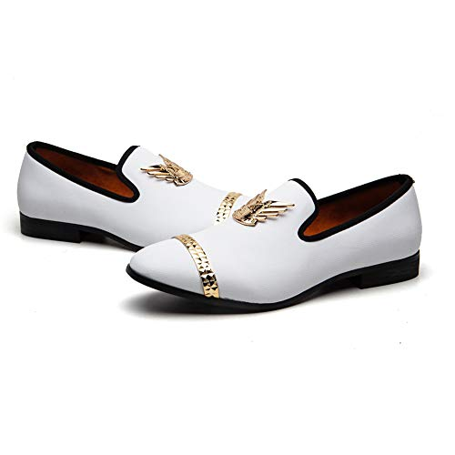 MEIJIANA Men's Loafers Wedding Slippers Slip on Penny Fashion Party Luxury Prom Prince Shoes Nightclub Shoes ...
