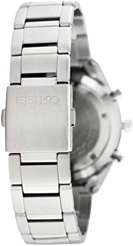 Seiko Chronograph Black Dial Stainless Steel Mens Watch SSB087