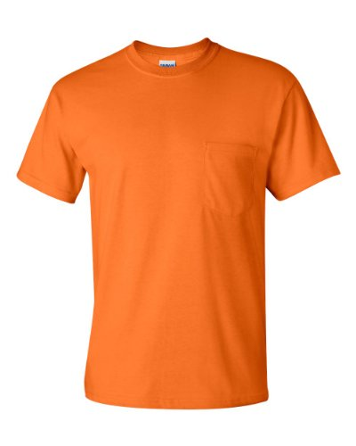 GILDAN Adult Ultra CottonTM T-Shirt with Pocket>4XL Safety Orange G2300