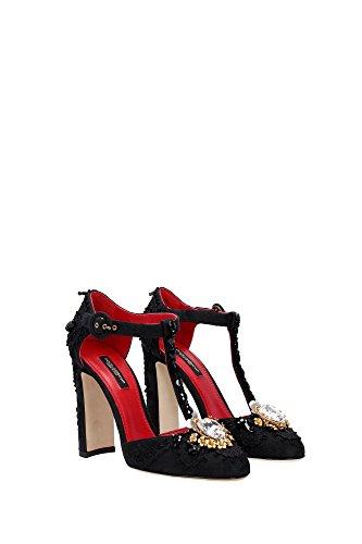 Mujer C19406A657880999 amp;Gabbana Negro EU Sandalias Dolce qwEBB7