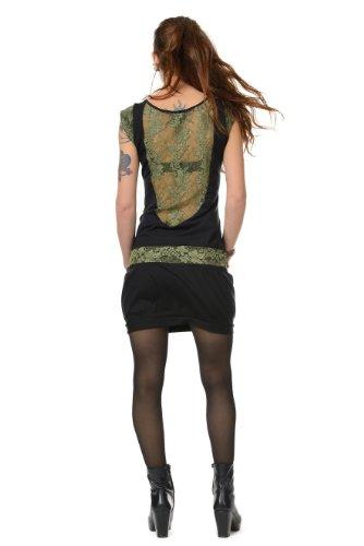 de verano de 3elfen verdes vestido las de globo mujeres 4Zq15Bw