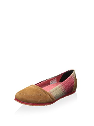 Elk Women's Flat 5 Moc B Medium Bright 9 Red Yaquina SOREL 1tqw78dd