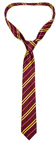 Funnlot Cosplay Tie for Harry Costume Accessory for Christmas Party Easter Day Hand-Make Necktie (Burgundy)