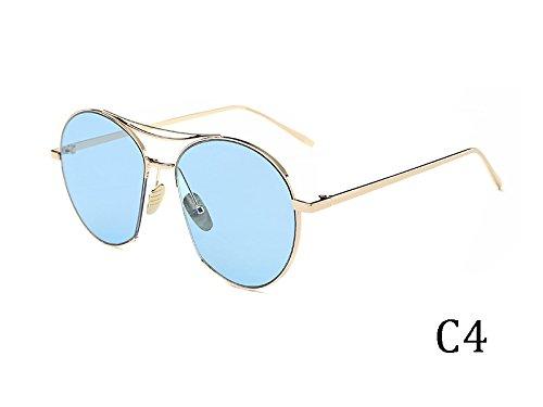 Gafas De Vintage 935C5 Grande TIANLIANG04 Bastidor Gafas Sol Metal De Espejo En Mujeres Uv400 Tonos 935C4 0wwxq4dR